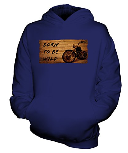 Candymix - Born to Be Wild Motorbike - Unisex Kids Hoodie Boys Girls Childrens Toddlers Hooded Sweater Top