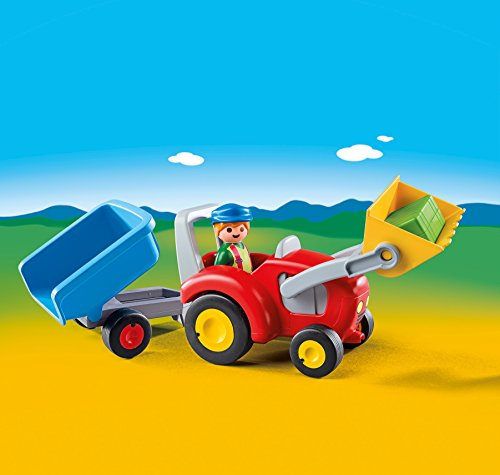Playmobil 6964 1.2.3 Tractor with Trailer