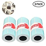 leegoal 3pcs papier thermique, 57x30mm dans l'autocollant papier thermique pour Paperang mini photo imprimante pour le plaisir, étude, travail