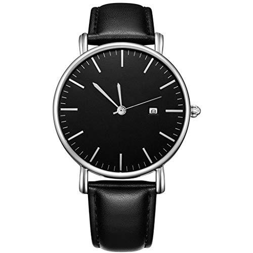 UINGKID Collection Unisex-Armbanduhr Herren Uhren Ultra Dünne Geschäfts-beiläufige Entwurfs-Uhr-Edelstahl-Paar-Quarz-analoge Armbanduhr