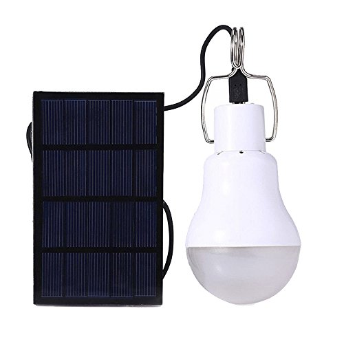 Lamparas Solares,, kk.bol Luz Led Solar Bombilla de LED Solar Portátil Solar Bombilla Lámpara Para al Aire Libre Senderismo Cámping (S-1200)