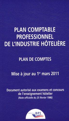 Plan comptable hôtelier 2011