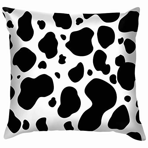 dfgi Abstrakte Tiere Wildlife Kuh Baumwolle Leinen Startseite Dekorative Dekokissen Fall Kissenbezug Für Sofa Couch 18X18 Zoll
