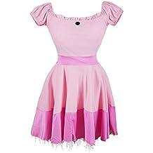 Disfraz de Emma's Wardrobe de la Princesa Peach - Incluye vestido de princesa rosa, Tiara y par de largos guantes blancos - Traje de la Bella Durmiente o Traje Princesa Peach para fiestas- Tamaño 42