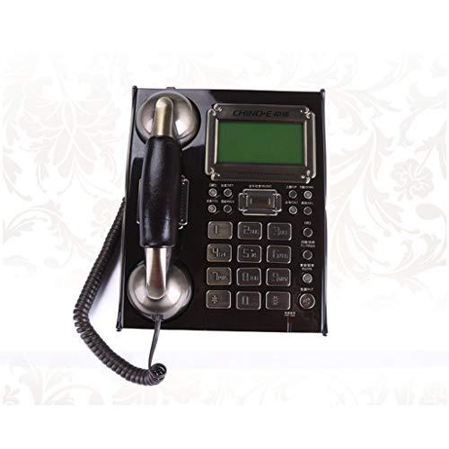 HBWJSH Telefon, europäisches antikes Zuhause Festnetz, kreatives Bürotelefon, wunderbare Geschenke, Zwei Farben optional (Farbe : SCHWARZ)