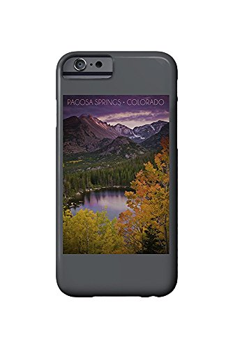 Pagosa Springs, Colorado - Purple Sky and Lake (iPhone 6 Cell Phone Case, Slim Barely There) - Lake-colorado Springs