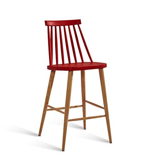 LPZ Barhocker Modern Einfache Hohe Hocker Bartisch Und Stuhl Barhocker Industrial Wind Hohe Bein Barhocker V (Farbe : Deep red) -