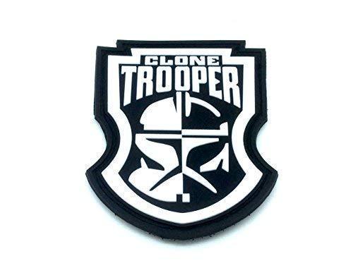 Patch Nation Star Wars Clone Trooper PVC Klett Emblem Abzeichen (Star Wars Pvc-patch)