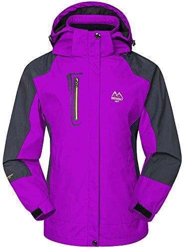 Mochoose Damen Outdoor Mountain Wasserdichte Windbreaker Jacken Softshell Ski Kapuzenjacke Sportbekleidung Regenmantel Camping Angeln Jagd (Jacken Windbreaker Jahre 80er)