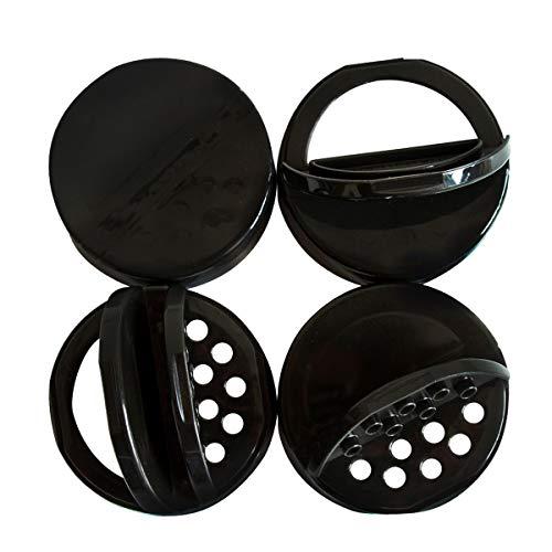 RECAP Mason Jars Deckel Shaker Minis Caps, Schwarz, 4 Stück, nur für Ball Miniatur Vorratsgläser - Mini-plastik-mason Jars