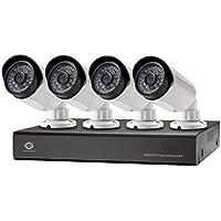 Conceptronic Kit de vigilancia AHD CCTV de cuatro canales - Kit de videovigilancia (Bullet,