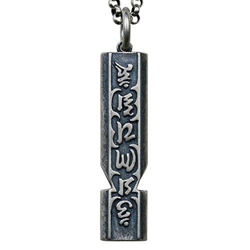 XYLUCKY Vintage 925 Sterling Silber Anhänger Halskette Mit Pfeife, Männlichen Und Weiblichen Geschenke,60Cm (Buddha Pfeife)