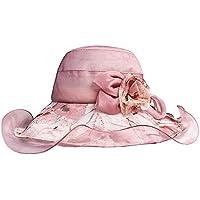 CFHJN Home Sombrero de Seda Visera para el Sol Sombrero de Seda de Seda Dama  de ea68d33b7965