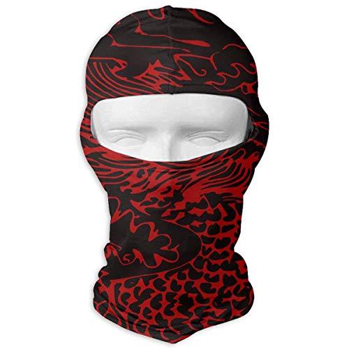 Jxrodekz Chinesischer roter Drache Motorcyle Gesichtsmaske Multifunktionssport Magie Headwear