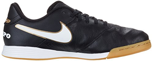 Nike Tiempo Legend Vi Ic Jr, Chaussures de football mixte enfant Schwarz (Schwarz/Weiß/Gold)