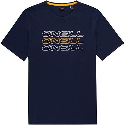 O'Neill LM Triple Logo Camiseta Manga Corta, Hombre, Ink Blue, M