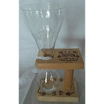 original pauwels kwak bierglas 25 cl mit holzst nder glas. Black Bedroom Furniture Sets. Home Design Ideas
