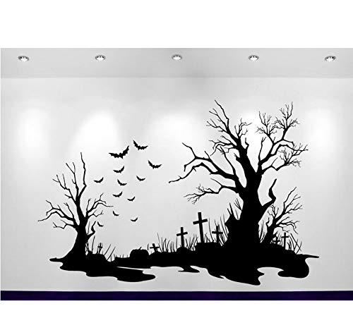 Halloween Friedhof Szene Aufkleber Heißer Verkauf Home Decoration Wandaufkleber Sofa Hintergrund Dekor Adesivo De Parede Aufkleber Poster 84X56cm