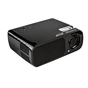 Weego portable hd led projector for home theater 2600 for Hd projector amazon