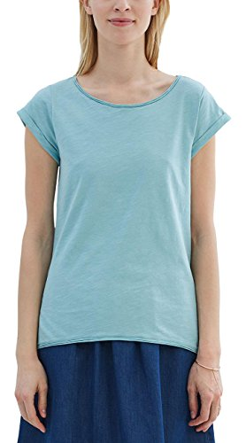 Grüne Damen Light T-shirt (ESPRIT Damen T-Shirt 027EE1K007 Grün (Light Aqua Green 4 393), 38 (Herstellergröße: M))