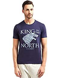 Game of Thrones Redwolf King in The North HBO® Licensed Half Sleeve Cotton T-Shirt