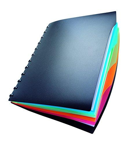 Durable 243501 Duralook Style Sichtbuch (20 Sichthüllen, aus PP für A4, 260 x 310 mm) schwarz