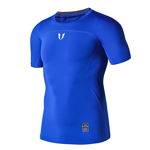 FIRM ABS Crew Neck Activewear Top Double Dry Performance T-Shirt For Men (Dry Performance Double T-shirt)