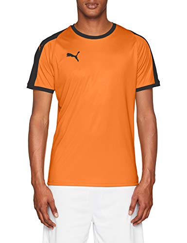 Puma Herren Liga Jersey T-Shirt, Golden Poppy Black, XL -