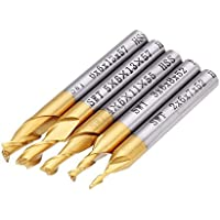 Farwind - Molinillo de fresado de titanio HSS (5 piezas, 2, 2/3/4/5/6 mm, herramienta CNC)