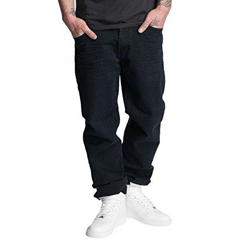 Thug Life Herren Jeans / Karottenjeans Carrot Schwarz