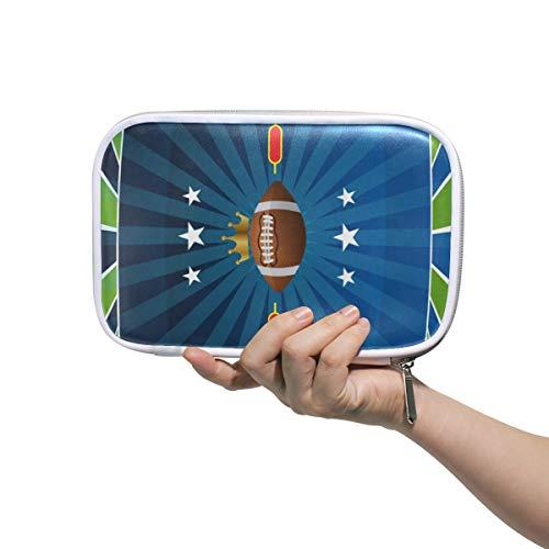 FANTAZIO Federmäppchen für Fußball-Turniere, große Kapazität, Stifttasche, Make-up-Tasche, langlebig, ideal als Geschenk für Studenten -
