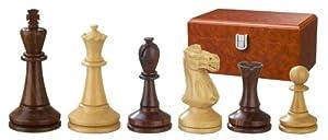 Philos 2243 Augustus- Piezas de ajedrez (madera, altura del rey: 100 mm, triple peso, en caja)