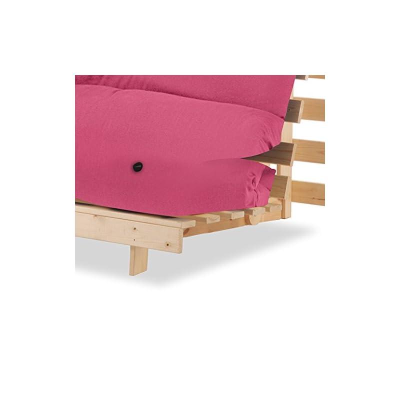 Humza Amani Luxury Natural Pine Wood Metro Futon Sofa Bed Frame and Mattress Set – Mattress UK Made Suitable for…