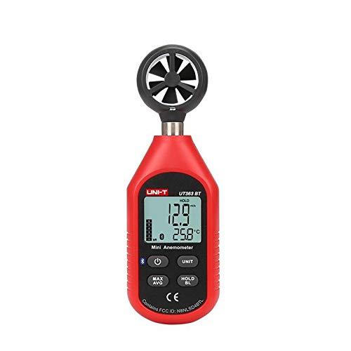 Magnetic Flow Meter (UNI-T Bluetooth Digital LCD Anemometer Gauge Wind Flow Speed Temperature Tester)