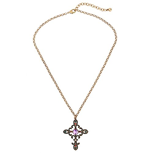 jiaqam-collar-aleacin-retro-de-lujo-azul-de-piedras-preciosas-cruz-colgante-ajustable-collar-de-seor