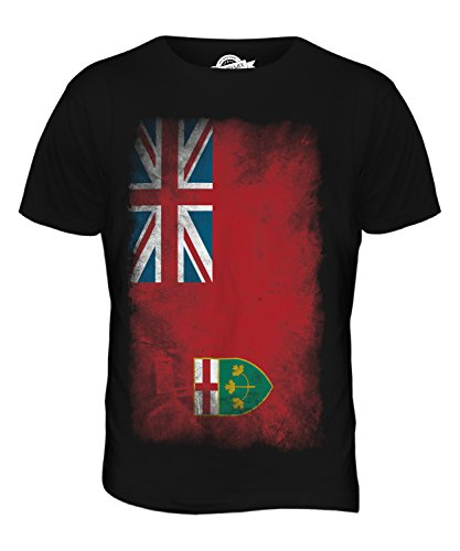 CandyMix Ontario Verblichen Flagge Herren T Shirt Schwarz