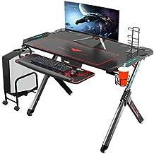 Eureka Ergonomic R1-S Escritorio para juegos: escritorio para computadora de juegos, mesa