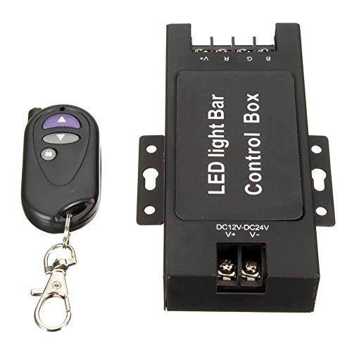 Sen-Sen LED-Lichtleiste Batteriesteuergerät mit Remote-Blitzsteuerung 7 Modi Schwarz (Road Off Led Lichtleiste Strobe)
