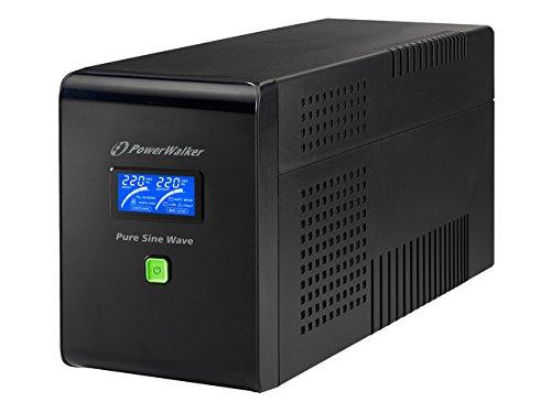 Galleria fotografica PowerWalker VI 1500 PSW 1500VA Compact Black uninterruptible power supply (UPS) - uninterruptible power supplies (UPSs) (1500 VA, 1050 W, 220 V, 240 V, 220 V, 240 V)