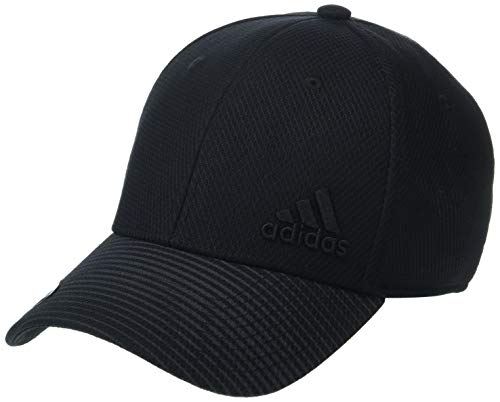 adidas Herren Cap Release Stretch Fit, Herren, Hut, Men's Release Structured Stretch Fit Cap, schwarz/schwarz, Small/Medium - Stretch Fit Hut