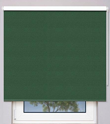 EFIXS Kettenzugrollo auf Maß ~ Breite 40,1 bis 50cm ~ Höhe 140,1 bis 160cm ~ Verdunkelungs- & Hitzeschutzrollo ~ Farbe: mossgrün ~ Montageträger: Universal