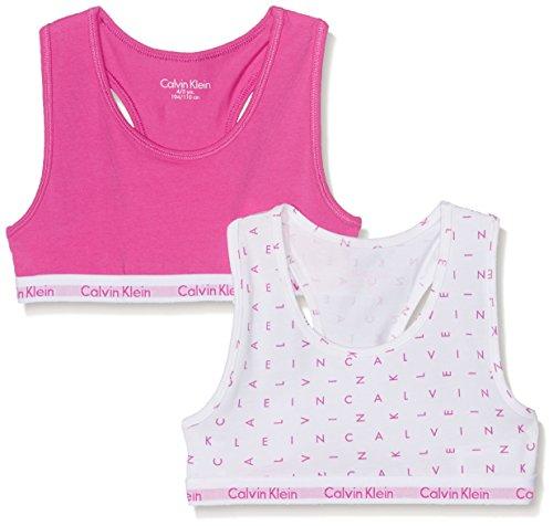 Calvin Klein Girl's Modern Cotton (Lg) 2 Pack Bralette Print Lingerie Set Test