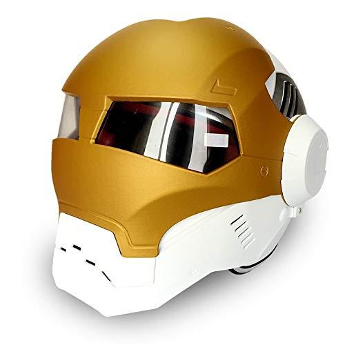 MENUDOWN Racing-Helm,Full-Face Motorradhelme,Integralhelm Motorradhelme, Helm Mode Motorrad Helme Harley Helme Männer und Frauen Helme,I-M(55-56cm)