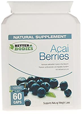Better Bodies 1000 mg Pure Acai Berry - Pack of 60 Capsules from Bionutricals
