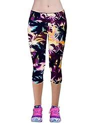 Pantalones mujer deporte Sannysis YOGA Pantalones, Legging Mallas para mujer (Púrpura, M)