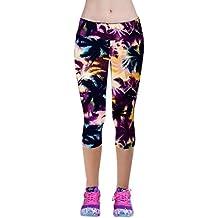 Pantalones mujer deporte Sannysis YOGA Pantalones, Legging Mallas para mujer (Púrpura, S)