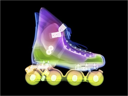 Posterlounge Holzbild 130 x 100 cm: Inline Skate, X-Ray von Gustoimages/Science Photo Library