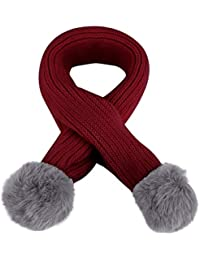 Girl's Accessories Lovely Kids Soft Winter Scarf Pompom Baby Scarf Boys Girls Warm Neck Scarves Knitting With Fur Ball Neckerchief Foulard Moderate Price