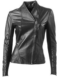 Trendy leather jacket black (771)