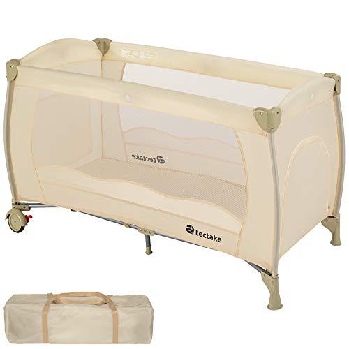 TecTake Cuna de viaje bebe plegable con bolsa de transporte - disponible en diferentes colores - Beige...